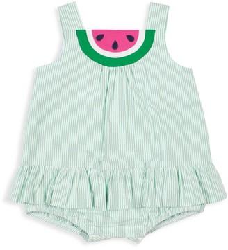 Florence Eiseman Baby Girl's Striped Watermelon Romper