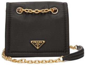 Prada Logo-plaque Nylon Cross-body Bag - Black