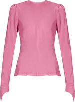 Natasha Zinko Round-neck silk crepe de Chine blouse