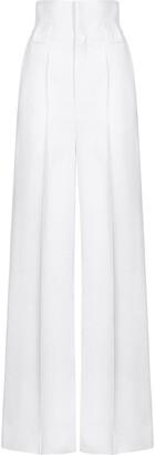 Fendi High-Waisted Flared Trousers