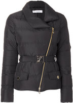 Versace belted padded jacket