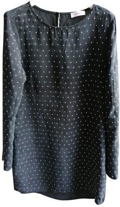 Anine Bing Anthracite Silk Dress for Women