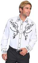 Scully Men's Floral Embroidered Vintage Western Shirt