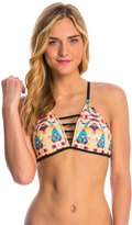 Hurley Swimwear Jagged Tie Dye Crossback Bikini Top 8145089