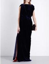 Roland Mouret Draped velvet gown