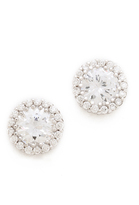 Kenneth Jay Lane Round Pave Stud Earrings