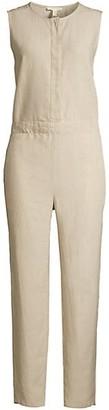 Eileen Fisher Organic Linen Ankle Jumpsuit
