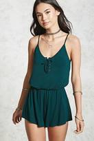 Forever 21 Lace-Up Cami Romper