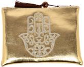 Le Beau Maroc Gold Medium Hamsa Clutch