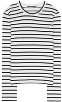 J Brand Harper striped cotton-blend top