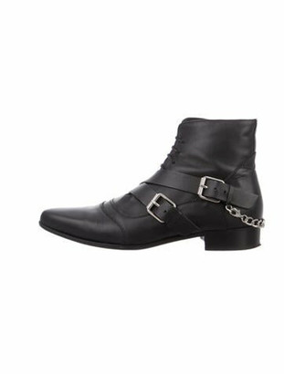 Tabitha Simmons Leather Ankle Boots Black