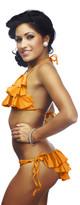 Nicolita Swimwear - Rumba Ruffles Orange String Bikini Bottoms
