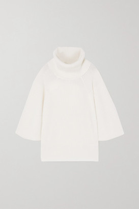 Givenchy Ribbed Cashmere Turtleneck Sweater - White