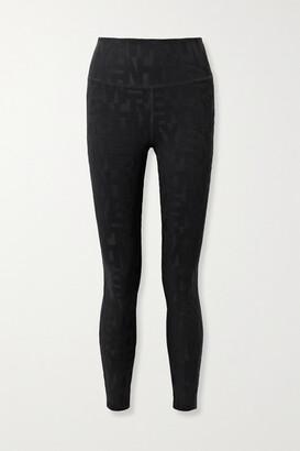 Twenty Montreal Dna 3d Stretch Jacquard-knit Leggings - Black