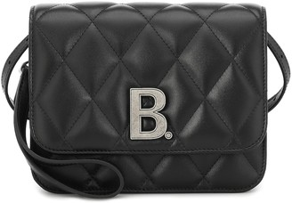 Balenciaga B. Small quilted leather shoulder bag