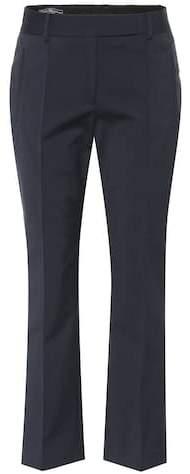 Salvatore Ferragamo Cropped cotton-blend pants