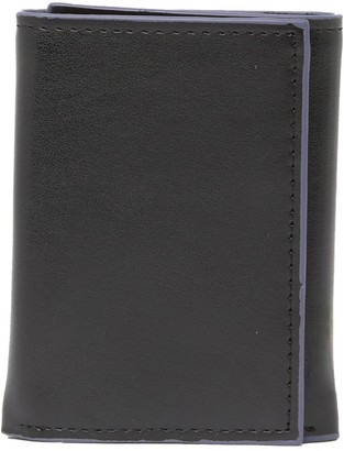 Tallia Trifold Leather Wallet with Multicolor Edges