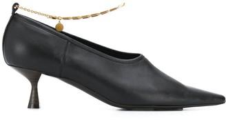 Stella McCartney Ankle-Chain Mid-Heel Pumps