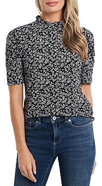 CeCe Floral Puff Sleeve Top