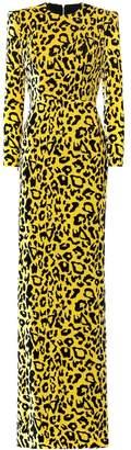 Alex Perry Cole leopard-print velvet gown