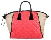 Moncler Quilted Leather Zip Tote