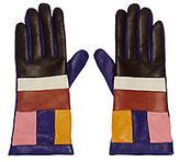 Missoni Colorblock Leather Gloves
