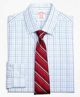 Brooks Brothers Non-Iron Milano Fit Music Overcheck Dress Shirt