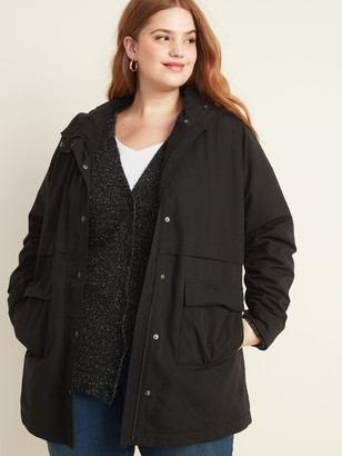 Old Navy Water-Resistant Plus-Size Fleece-Lined Jacket