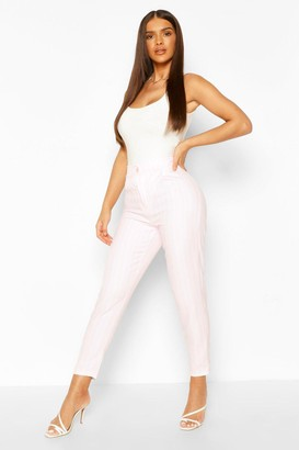 boohoo Pastel Stripe Slim Fit Pants