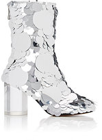 Maison Margiela Women's Paillette-Embellished Leather Ankle Boots
