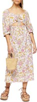 Thumbnail for your product : Topshop Floral Cutout Midi Dress