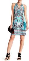 Hale Bob Sleeveless Split Neck Dress