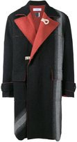 Facetasm striped detail coat