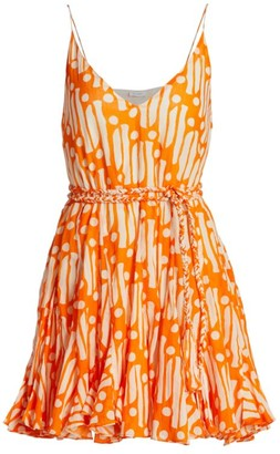 Rhode Resort Casey Belted Batik Cotton Dress