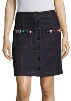 Fendi Stud-Detail Denim Skirt