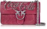 Pinko Love Trilogy Red Leather Shoulder Bag
