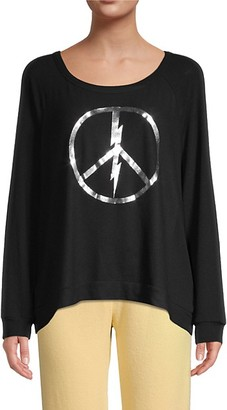 Lauren Moshi Graphic High-Low Cotton-Blend Sweatshirt