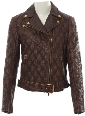 Gucci Brown Leather Leather jackets