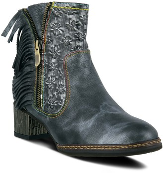 Spring Step L'Artiste by Fringe Leather Booties- Kami