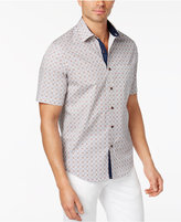 Tasso Elba Men's Tile-Pattern Cotton Shirt, Only at Macy's