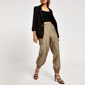 River Island Womens Beige loose utility combat trousers