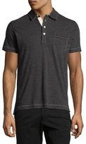 Billy Reid Pensacola Mini-Stripe Polo Shirt