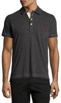 Billy Reid Pensacola Mini-Stripe Polo Shirt