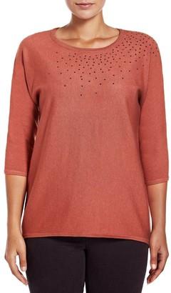 M&Co VIZ-A-VIZ turmeric knitted top