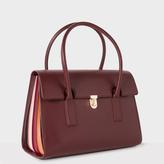 Paul Smith Women's Burgundy 'Concertina' Leather Handbag