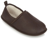 Mantaray Brown Fleece Lined Slippers
