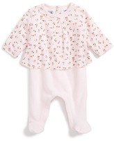 Petit Bateau Infant Girl's French Terry Footie
