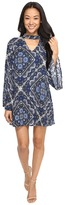 Brigitte Bailey Avah Long Sleeve Dress with Keyhole Women's Dress