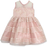 Rare Editions Baby Girls' Soutache & Stripes Dress