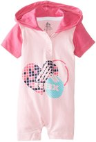 Rbx Baby Girls Hooded Heart Print Rompers Logo with Heart